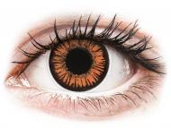 Оранжеви контактни лещи - без диоптър - Здрач (Twilight) - ColourVUE Crazy Lens - еднодневни (2 лещи)