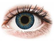 Сини контактни лещи - c диоптър - Air Optix Colors - True Sapphire - с диоптър (2лещи)