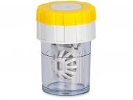 Контейнерчета за съхранение - Twist Top въртящ се контейнер за лещи - жълт