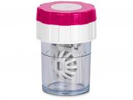 Контейнерчета за съхранение - Twist Top въртящ се контейнер за лещи - розов