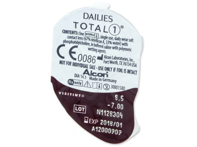 Dailies TOTAL1 (90лещи) - Преглед на блистер