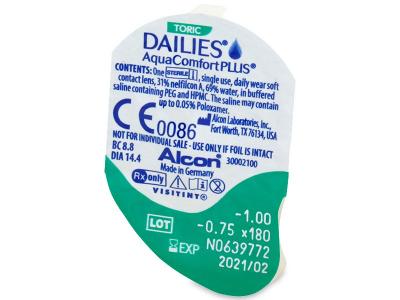 Dailies AquaComfort Plus Toric (30лещи) - Преглед на блистер