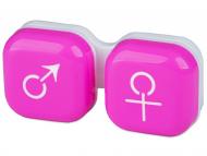 Контейнерчета за съхранение - Контейнерче за лещи Момче/момиче - розово