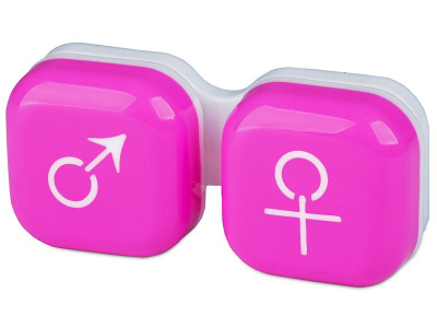 Контейнерче за лещи Момче/момиче - розово