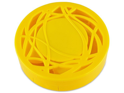 Комплект за лещи с огледало Орнаменти - жълт
