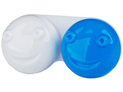 Контейнерче за лещи 3D - синьо