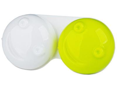 Контейнерче за лещи 3D - жълто