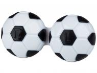 Контейнерчета за съхранение - Контейнерче за лещи Футбол - чернo