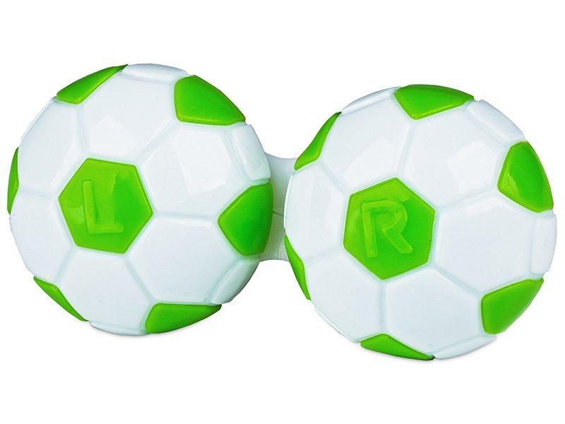 Контейнерче за лещи Футбол - зеленo
