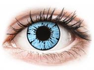 Сини контактни лещи - без диоптър - ColourVUE Crazy Lens - Blizzard - без диоптър (2лещи)