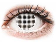 Бели контактни лещи - без диоптър - ColourVUE Crazy Lens - White Screen - без диоптър (2лещи)