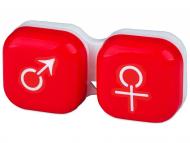 Контейнерчета за съхранение - Контейнерче за лещи Момче/момиче - червено