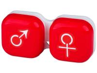 Контейнерче за лещи Момче/момиче - червено
