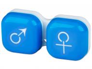Контейнерчета за съхранение - Контейнерче за лещи Момче/момиче - синьо