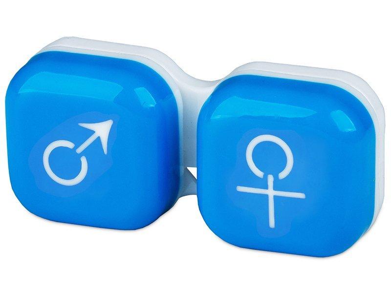 Контейнерче за лещи Момче/момиче - синьо