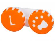Контейнерчета за съхранение - Контейнерче за лещи Paw - оранжево