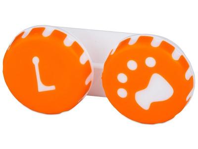 Контейнерче за лещи Paw - оранжево