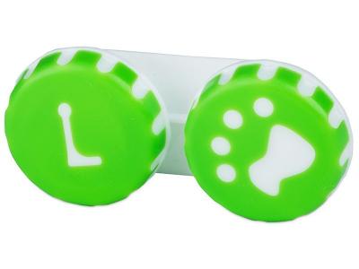 Контейнерче за лещи Paw - зелено