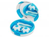 Контейнерчета за съхранение - Комплект за лещи с огледало Football - син