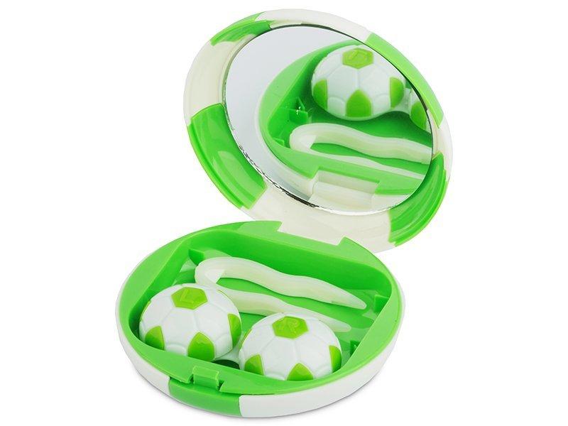 Комплект за лещи с огледало Football - зелен