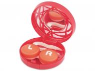 Контейнерчета за съхранение - Комплект за лещи с огледало Орнаменти - червен