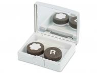 Контейнерчета за съхранение - Комплект за лещи с огледало Elegant - сребро