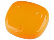 Контейнерчета за съхранение - Комплект за лещи с огледало Face - оранжев
