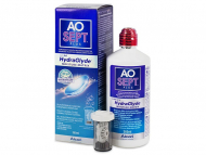 Разтвори за контактни лещи - Разтвор AO SEPT PLUS HydraGlyde 360мл