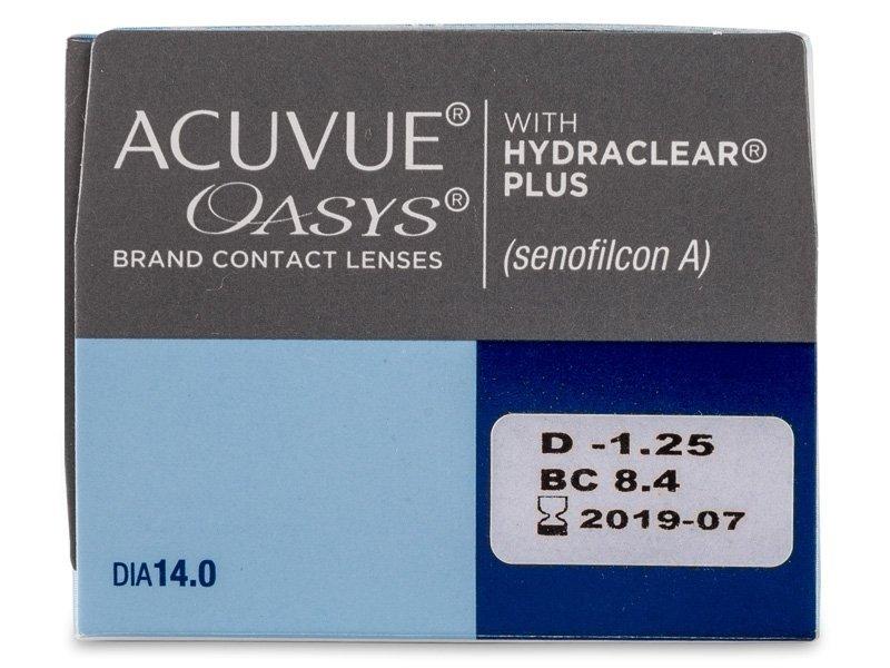 Acuvue Oasys (24 лещи) - Преглед на параметри