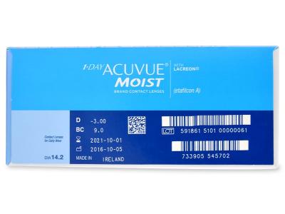 1 Day Acuvue Moist (180 лещи) - Преглед на параметри