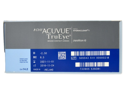 1 Day Acuvue TruEye (180 лещи) - Преглед на параметри