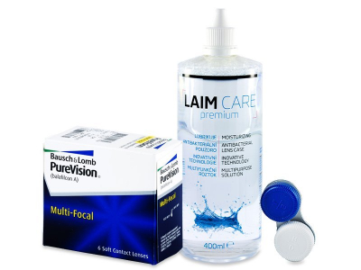 PureVision Multi-Focal (6 лещи) + разтвор Laim-Care 400 мл