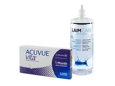 Acuvue Vita (6 лещи) + разтвор Laim-Care 400 ml
