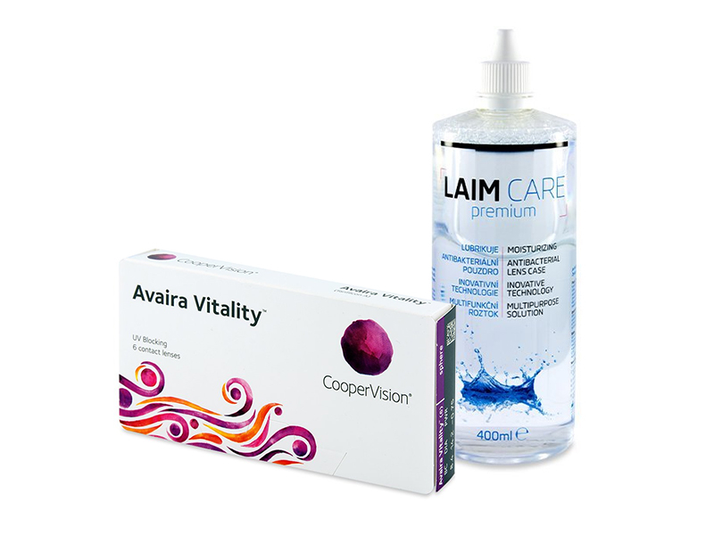 Avaira Vitality (6 лещи) + разтвор Laim-Care 400 мл