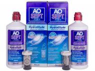 Разтвори за контактни лещи - Разтвор AO SEPT PLUS HydraGlyde 2x360ml