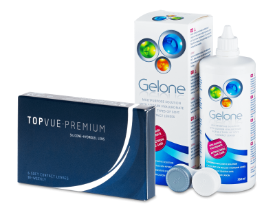 TopVue Premium (6 лещи) + разтвор Gelone 360 мл