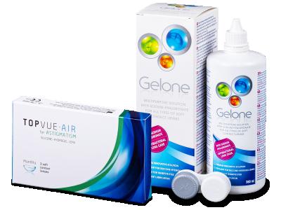 TopVue Air for Astigmatism (3 лещи) + разтвор Gelone 360 мл