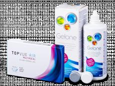 TopVue Air Multifocal (3 лещи) + разтвор Gelone 360 мл