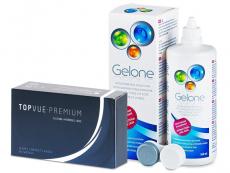 TopVue Premium (12 лещи) + разтвор Gelone 360 ml