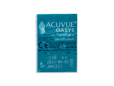 Acuvue Oasys with Transitions (6 лещи) - Преглед на блистер