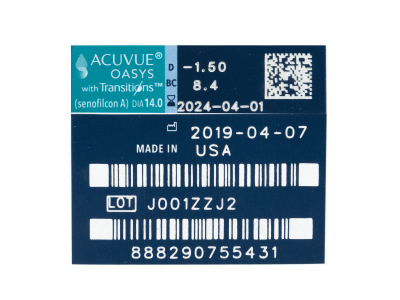 Acuvue Oasys with Transitions (6 лещи) - Преглед на параметри