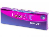 Цветни контактни лещи - ColourVue One Day TruBlends - диоптър (10 лещи)