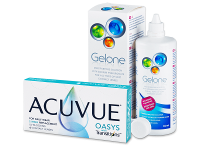 Acuvue Oasys with Transitions (6 лещи) + Gelone ратвор 360 ml