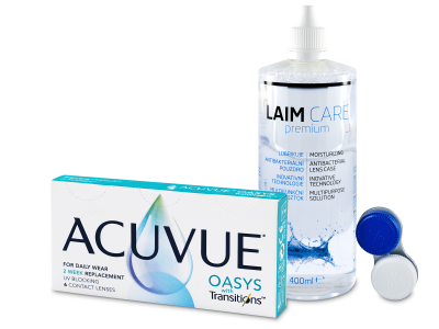 Acuvue Oasys with Transitions (6 лещи) + Laim-Care ратвор 400 ml