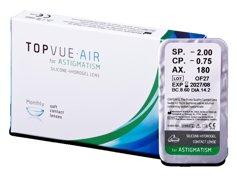 TopVue Air for Astigmatism (1леща) - Торични лещи