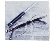Лещи, разтвори и капки за очи. Ниска цена - Микрофибърна кърпичка за очила - вестник