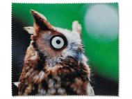 Лещи, разтвори и капки за очи. Ниска цена - Микрофибърна кърпичка за очила - Сова