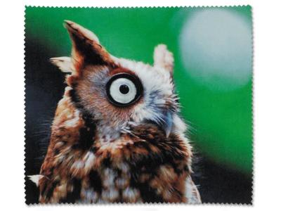 Микрофибърна кърпичка за очила - Сова
