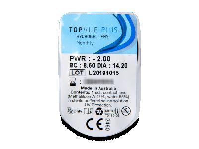 TopVue Monthly Plus (6 лещи) - Преглед на блистер