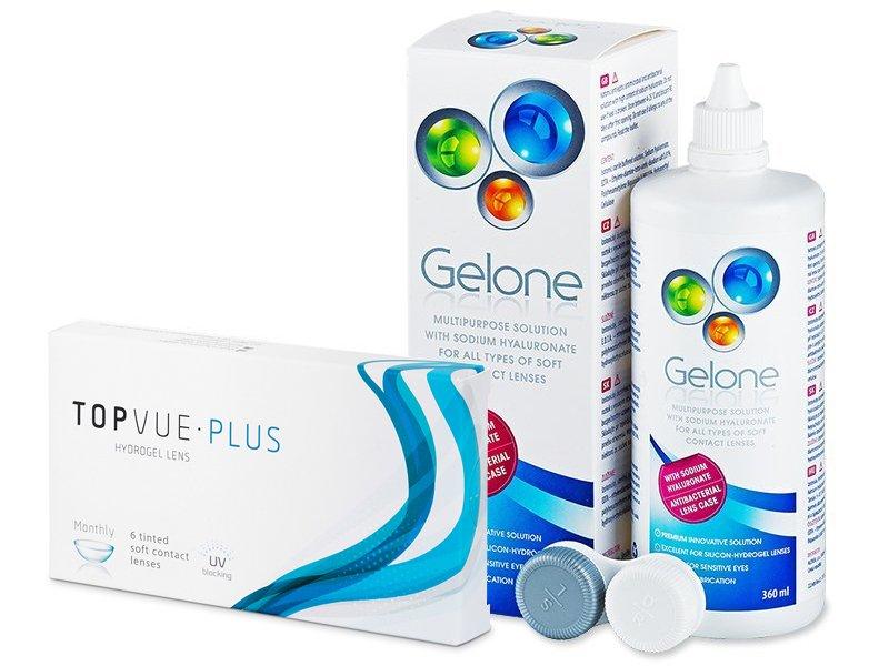 TopVue Monthly Plus (6 лещи) + Разтвор Gelone 360 мл - Пакет на оферта